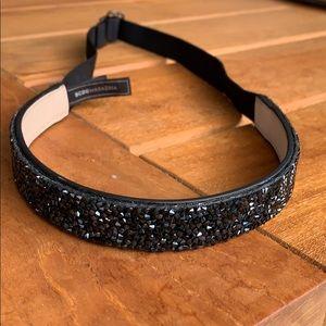 BCBG black adjustable high waist belt